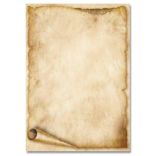 Motivpapier - Briefpapier ALTE PAPIERROLLE 50 Blatt DIN A5 Format 90g/m²