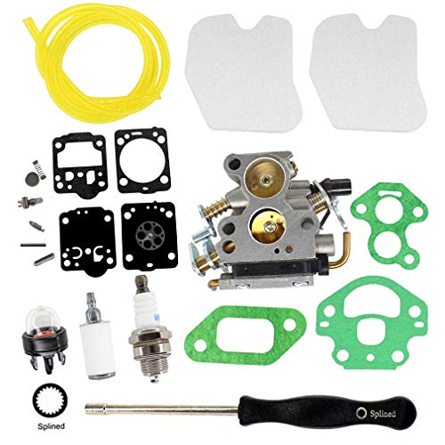 AISEN Carburatore con cacciavite, strumento di regolazione, membrana, filtro dell'aria per motosega Husqvarna 235 235E 236 236E 240 240E, sostituisce 574719402 545072601