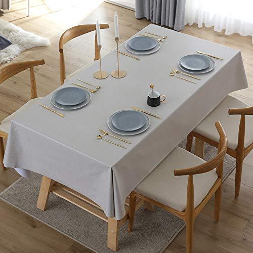 xiaopang Wondder - Tovaglia in cotone e lino, con nappe e pizzo, per tovaglia da tavolo, per feste, banchetti, 110 x 160 cm