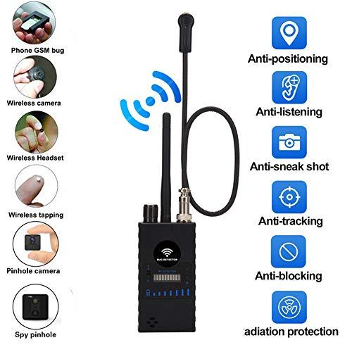 Anti-Spion versteckte Kamera Detektor, RF Detektor Wireless Bug Detector Signal für versteckte Kamera Laser Objektiv GSM Device Finder Radio Scanner Wireless Signal Alarm (neueste Modell G328)