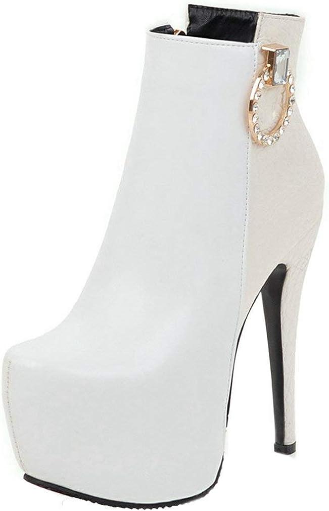 KOKOMOMO Womens High Heel Stiletto Ankle Super popular specialty Oakland Mall store Up Boots Platform Zip P