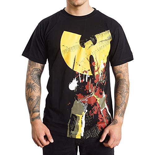 Wu Wear T-Shirt Wu Hands Up, Wu Tang Clan Urban Streetwear Fashion, Hip Hop, Männer, schwarz Größe L, Farbe Black