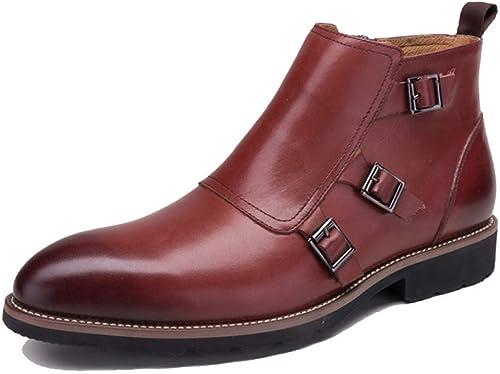 Zapatos De Hombre Inglaterra Vintage Martin botas Fashion Pointed Antideslizante Resistente Al Desgaste
