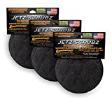 Jetz-Scrubz Scrubber Sponge, J22/3, Round, Set of 3, Made in the USA