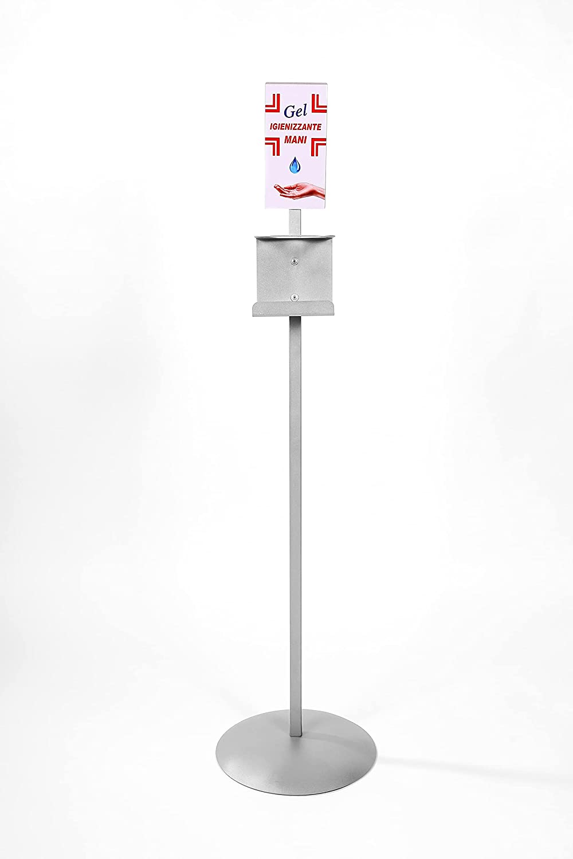 ferrara portadispenser piantana indicata per detergenti e gel igienizzanti piantana porta dispenser
