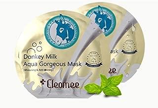 Cleomee Donkey Milk Aqua Gorgeous Mask 5Sheet Anti-Wrinkle Whitening