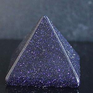 30mm Mixed gemstom Pyramid Point Healing (Blue Goldstone)