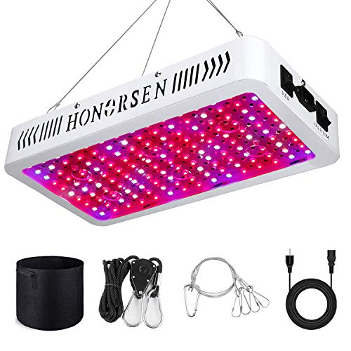 HONORSEN 1500W LED Grow Light Full Spectrum Double Switch Plant Light for Hydroponic Indoor Plants Veg and Flower (10W LEDs 150Pcs)