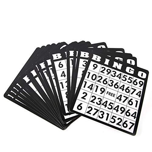 Juego de Bingo, Juego de Bingo para Fiestas Hierro Resistente y Material plástico para Grupos y familias
