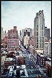JUNIQE® Wolkenkratzer & Hochhäuser New York Poster im