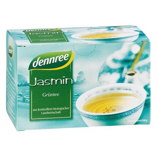 dennree Grüntee China Jasmin im Beutel (20 Beutel) - Bio