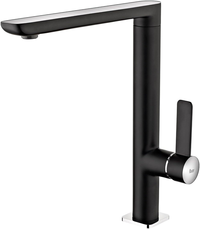 Teka CADO Alto Chromed Kitchen Sink tap with Fixed spout FO 915-black