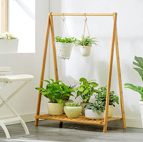 Porte Plante Présentoir de fleur de plantes en bois Support de clayette en bois Support d'intérieur en plein air Pliable Multi-layer Pots Holder Étagères à fleurs (taille : 70 * 38 * 90cm)
