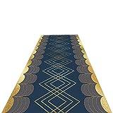 alfombra de Pasillo Antideslizante, Contemporáneo Geométrico Alfombras de Área Felpudo de Pila Baja, Resistente al Suelo & Fácil de Limpiar (Size : 1x4m/3.3x13.1ft)
