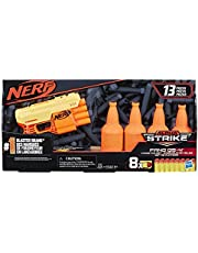 NERF Fang Qs-4 Targeting Set (Includes Toy Blaster, 4 Half-Targets, and 8 Official Elite Darts for Kids, Teens, Adults)