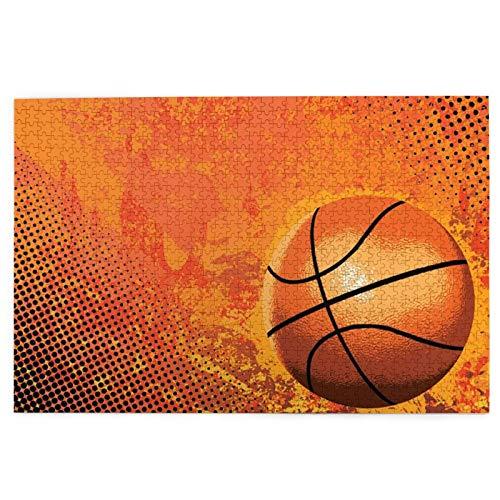 Rompecabezas de baloncesto grande para arte infantil, 1000 piezas, 29,5 x 50,3 cm