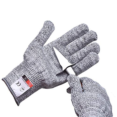 Oyster shucking Gloves, Cut Resistant Gloves Food Grade Level 5 Protection for Kitchen, Upgrade Safety Anti Cutting Gloves (XL)
