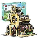 Kit Bloques Construcción Casas, 2147 Piezas Kit Modelo de Jardín Botánico Modular con Iluminación, Kit de Construcción de Bloques Terminales MOC Compatible con Lego House
