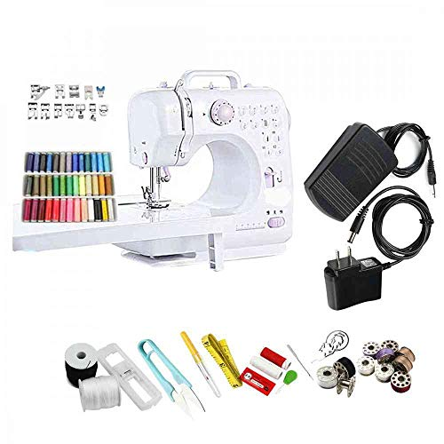 Learn More About Electric Sewing Machine Portable Household Sewing Machine Beginner Free-Arm Craftin...