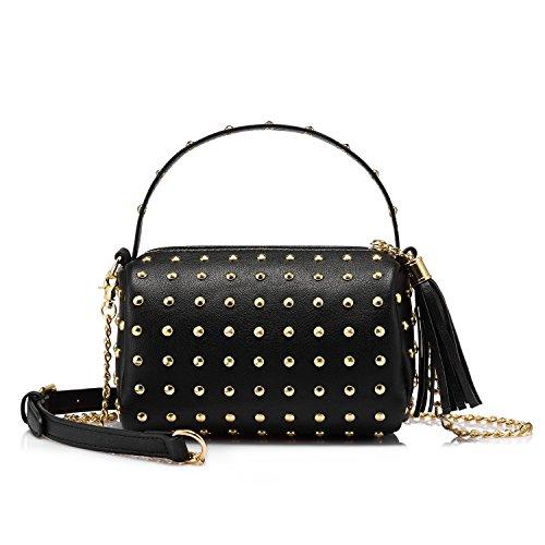 Damen Handtasche Umhängetasche Henkeltasche Klein Elegante Handtaschen Designer Taschen Schwarz