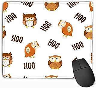 Mouse Pad Seamless Texture Cute Cartoon Owls Doodle Pattern Template Print Textile Web Design Rectangle Rubber Mousepad 11.81 X 9.84 Inch