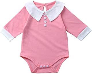 Christmas Merry Wishes Newborn Baby Girl Jumpsuit Cotton Doll Collar Romper Long Sleeve One-Piece Bodysuit Infant Jumpsuit...