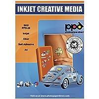 PPD Pegatinas de vinilo transparente para impresión de inyección de tinta A4 x 10 Hojas PPD-39-10