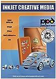 PPD A4 20 Fogli Di Carta Autoadesiva Trasparente Per Stampanti A Getto D'Inchiostro Inkjet - PPD-39-20