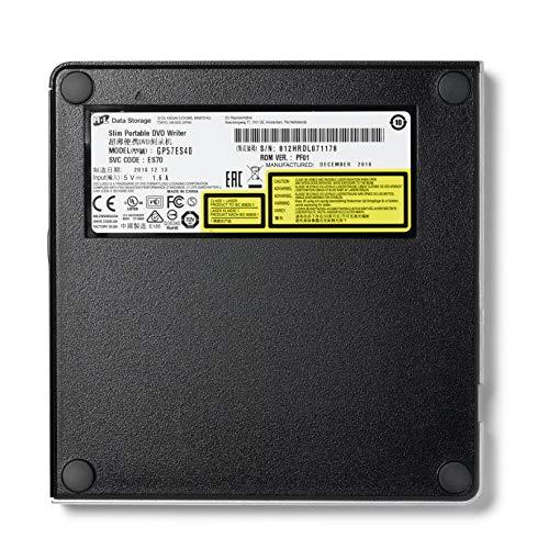Hitachi-LG GP57 Externer Portabler Super-Multi DVD-Brenner, Ultra Slim, USB 2.0, DVD+/-RW, CD-RW, DVD-ROM/RAM kompatibel, TV-Anschluss, Windows 10 & Mac OS kompatibel, Silber
