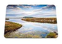 22cmx18cm マウスパッド (川の自然の葉草) パターンカスタムの マウスパッド