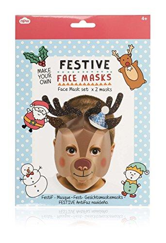 NPW Festive maak je eigen rendier-/sneeuwpopmasker