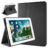 doupi Deluxe Protección Funda para iPad 2 3 4, Smart Sleep/Wake Up función 360 Grados giratoria del Caso del Soporte Bolsa, Negro