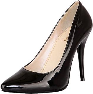 [Charm Foot] レディース ポインテッドトゥ ピンヒール パンプス[10.5cm ヒール]