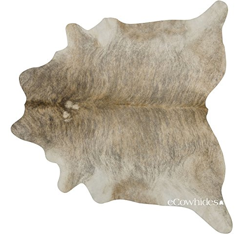eCowhides Light Brindle Brazilian Cowhide Area Rug, Cowskin Leather Hide for Home Living Room (XL) 7 x 6 ft