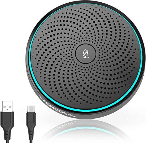 Micrófono USB para conferencias, micrófono para videoconferencia PC, grabación, Skype, cursos en línea, juegos, Zoom, Plug & Play compatible con Mac Windows PC