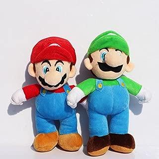 2 Pcs/Set New Super Mario Bros. Stand LUIGI & MARIO Plush Doll Stuffed Toy 10