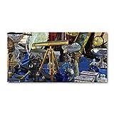 Tulup Cuadro en Acryl - 140x70cm - Mural Art Deco Wall plástico Vidrio Acrílico Cuadro Pintura Acrílica - Buzos - Multicolor - Antigüedades