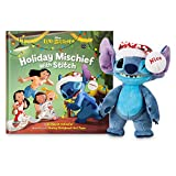 Disney Stitch Poseable Plush and ''Holiday Mischief with Stitch'' Book Set