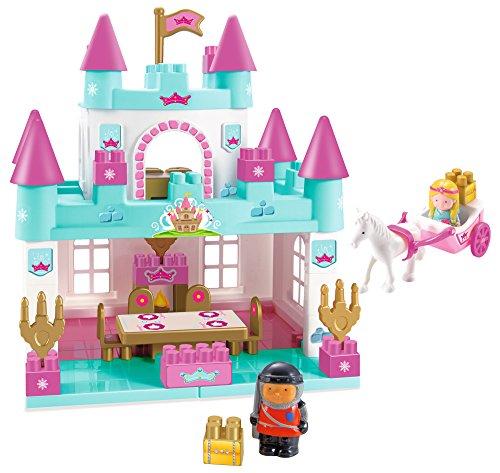 Jouets Ecoiffier – 3088 - Château de princesse Abrick – Jeu de construction pour enfants – Dès 18 mois – Fabriqué en France