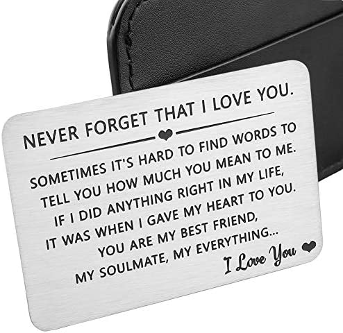 Husband Wife Wallet Card Insert Valentine Christmas Gifts for Him Her Men Husband Anniversary product image
