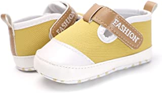 Docooler Infant Toddler Baby Casual Shoes Cotton Soft Sole Non-Slip Sneaker Prewalker Yellow 4M