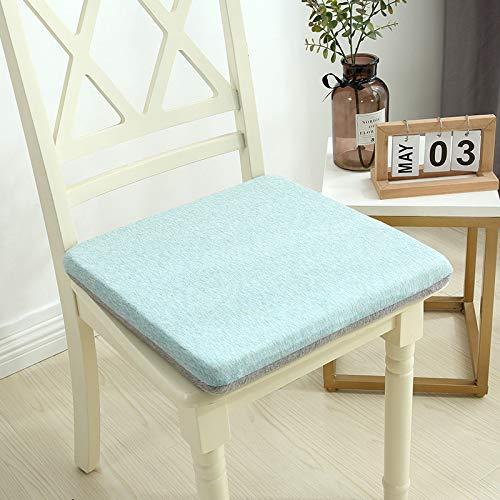 Juego de 2 cojines de cocina modal extraíbles suaves para silla de oficina para sillas de comedor, cojines de espuma viscoelástica transpirables para silla de 40 x 40 cm