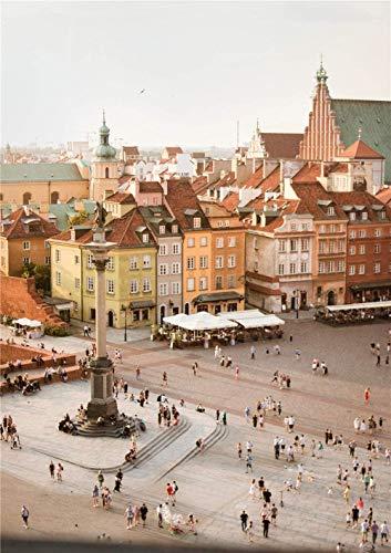 Legpuzzels Puzzels Luchtfoto Van Mensen In Plaza Voor Kinderen Volwassenen Legpuzzel - 1000 Stukjes-