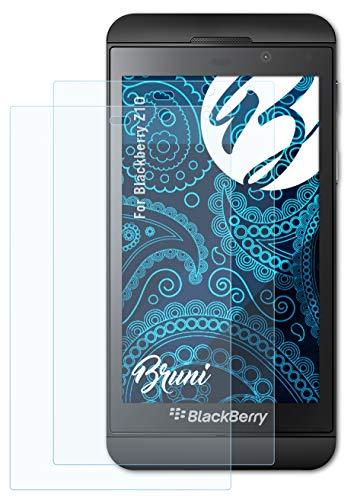 Bruni Schutzfolie kompatibel mit BlackBerry Z10 Folie, glasklare Bildschirmschutzfolie (2X)