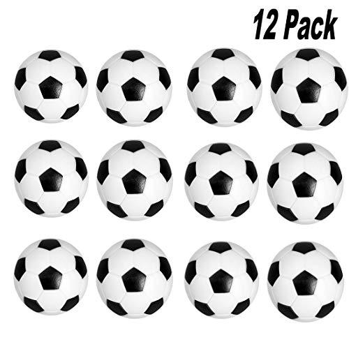 Cojoy Tischfussballbaelle, 12 pcs Mini Kicker bälle für Tischfußballspiele, 32 mm ABS Tischfußbälle