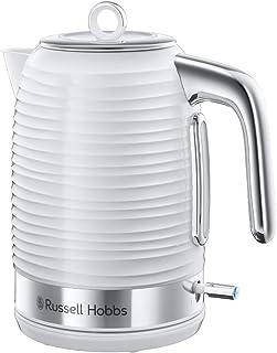 Russell Hobbs Bouilloire 1,7L, Ebullition Rapide, Niveau Eau Visible, Filtre Anti-Calcaire - Blanc 24360-70 Inspire