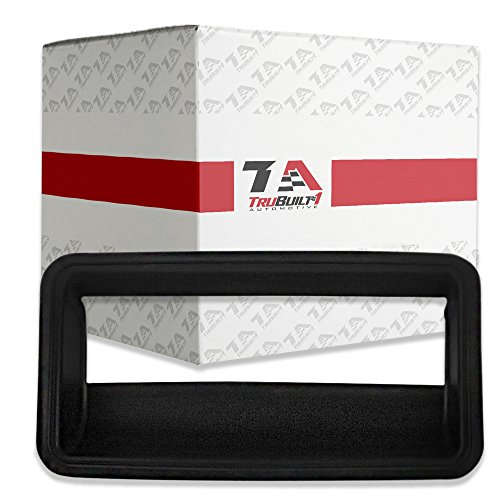 T1A Black Exterior Tailgate Bezel Replacement for 1988-2000 Chevrolet C and K 1500, 2500, 3500 Pickup Truck 15991786