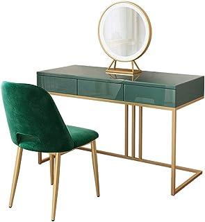 Vanity Table Set with Mirror Maquillage Vanity Table Vanity Set avec Miroir et molletonné Tabouret Coiffeuse 3 tiroirs Set...