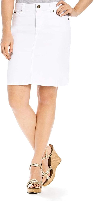 Beija Flor Womens Denim Above Knee Straight Skirt