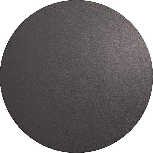 ASA 7857420 Tischset - Platzset - Rund - Basalt/Taupe/Grau - Kunstleder Ø 38 cm